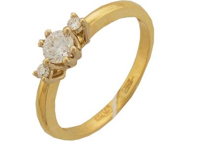 Золотое кольцо 01K682745 фото