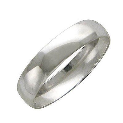 Кольцо. Золото белое 585 пробы. . Ширина 5,20мм. - Золотое кольцо  01O020140