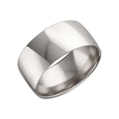 Обручальное кольцо, белое золото 585 пробы. Ширина 7,8 мм, примерный вес изделия - 5.09 гр. - Золотое кольцо  01O020260
