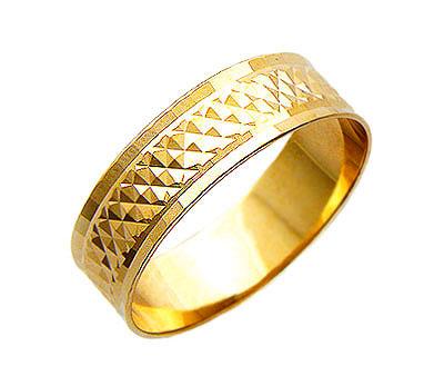 Купить Золотое колье 01O710148, Обручальное кольцо средний вес 1.98 гр, ширина 6, 6 мм. Красное золото 585 пробы. Изделие с алмазной обработкой Грани счастья.., Ювелирное изделие