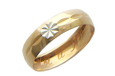 Купить Золотое колье 01O710162, Кольцо средний вес 1.81 г., Красное золото 585 пробы, Изделие с алмазной обработкой. Ширина 4, 00мм., Ювелирное изделие