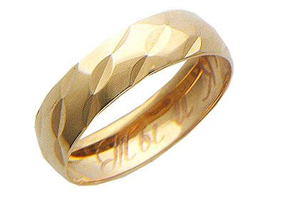 Купить Золотое колье 01O710173, Кольцо средний вес 1.89 г., ширина 4мм. Красное золото 585 пробы, Изделие с алмазной обработкой.., Ювелирное изделие