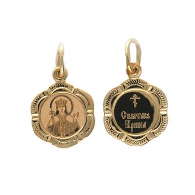 Купить Золотой подвес 01P011251, Подвеска, красное золото 585 пробы Св.Ирина.., Ювелирное изделие