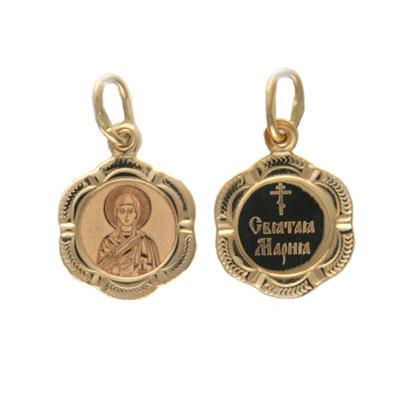 Купить Золотой подвес 01P011253, Подвеска, красное золото 585 пробы Св. Мария.., Ювелирное изделие