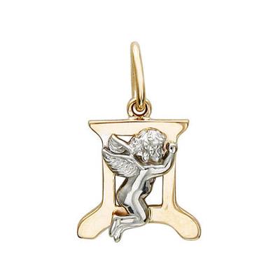 Купить Золотой подвес 01P06399D, Подвеска, Золото комбинированное 585., Ювелирное изделие