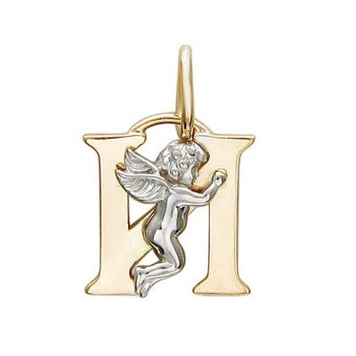 Купить Золотой подвес 01P06399I, Подвеска, Золото комбинированное 585., Ювелирное изделие