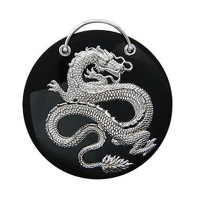 """Подвеска  """"Дракон """" с ониксом - CharmGold магазин: серебряные и золотые..."""