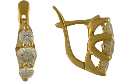 Золотые серьги G9C640120 фото