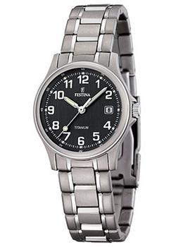 fashion наручные  женские часы Festina 16459.3. Коллекция Calendario Titanium