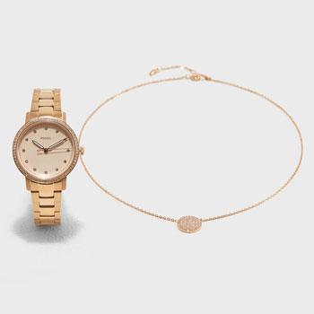 fashion наручные  женские часы Fossil ES4384_SET. Коллекция Neely.