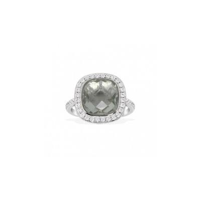 Серебряное кольцо  A13824GAM