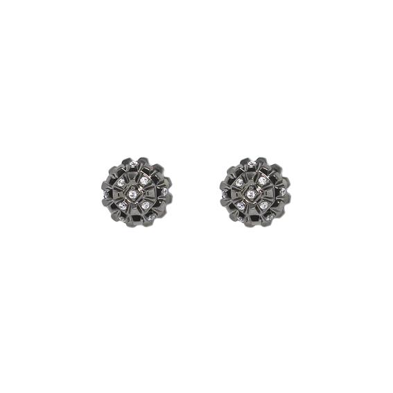 Серебряные серьги  AE6788OBR