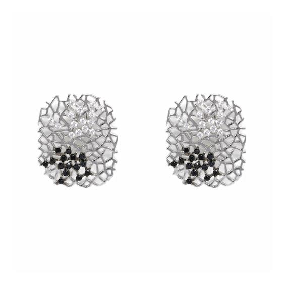 Серебряные серьги  Ювелирное изделие AE6953OBZ