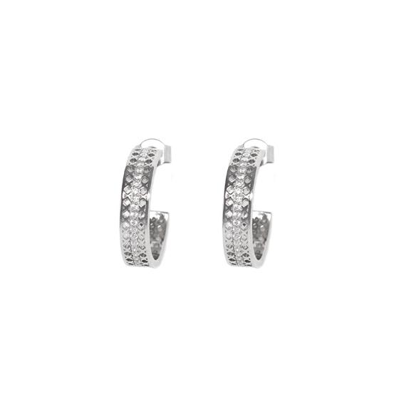 Серебряные серьги  AE7028OX