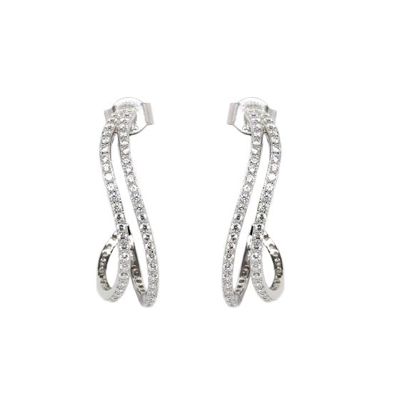 Серебряные серьги  AE7057OX