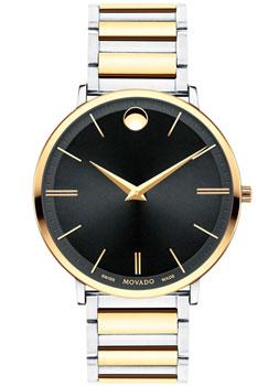 Швейцарские наручные мужские часы Movado 0607169. Коллекция Ultra Slim фото