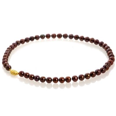 Купить Серебряное колье NP1062, Жемчужное ожерелье цвета шоколад Н8.8. Ожерелье из жемчуга наиболее гармоничного диаметра (8 мм) с насыщенным шоколадным цветом подчеркнет Вашу неповторимость в любом наряде.Натуральный жемчуг Категория качества: АА Диаметр жемчуга: 8-8, 5 мм Металл: серебро 925 с позолотой Длина 44 см.., Ювелирное изделие