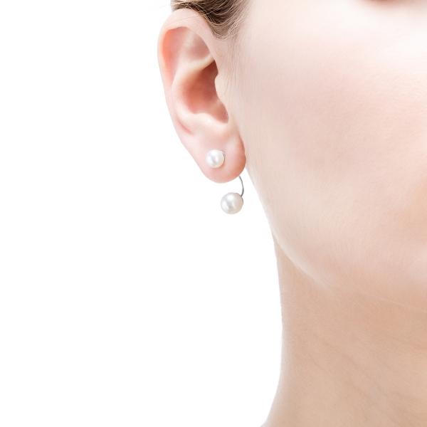 Купить Золотые серьги NP3508, Серьги Elegance из белого золота с натуральным жемчугомnbsp;- это утонченное ювелирное украшение для элегантной женщины. Жемчужные серьгиnbsp;Elegancenbsp;могут трансформироваться по желанию. Их можно носить как двойные серьги и как пуссеты. Вид жемчуга: Пресноводный. Категория качества: AAA. Диаметр жемчуга (мм.): 5, 5-6; 7-7, 5. Цвет: Белый. Материал: Золото 585, жемчуг. ., Ювелирное изделие