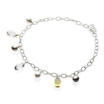 Купить Серебряное колье NP808, Серебряное ожерелье Аллегро с жемчугом и кварцем WY11597N01. Гармония барочного пресноводного жемчуга и прозрачного кварца делает это стильное серебряное ожерелье на редкость эффектным.Натуральный жемчуг Категория качества: АА Диаметр жемчуга: 9, 5-10 мм Металл: серебро 925 Длина 45 см.., Ювелирное изделие