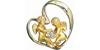 Кулон АНГЕЛЫ с бриллиантами из комбинированного золота 585 пробы.