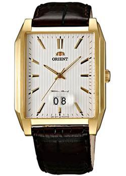 Японские наручные  мужские часы Orient WCAA003W. Коллекция Dressy Elegant Gents - OrientИндикация числа. Кожаный ремешок. Размер корпуса 35 х 38 мм. Альтернативный артикул: FWCAA003W0<br>