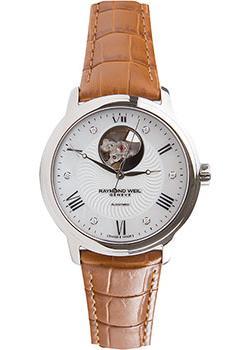 Швейцарские наручные  женские часы Raymond weil 2227-STC-00966-CAMEL. Коллекция Maestro