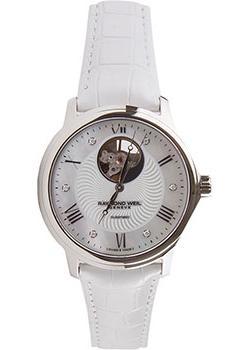 Швейцарские наручные  женские часы Raymond weil 2227-STC-00966-WHITE. Коллекция Maestro