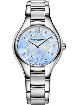 Швейцарские наручные  женские часы Raymond weil 5132-ST-00955. Коллекция Noemia