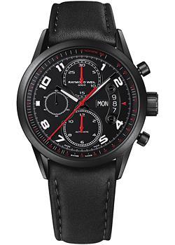 Швейцарские наручные мужские часы Raymond weil 7730-BK-05207. Коллекция Freelancer