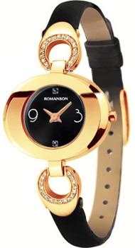 женские часы Romanson RN0391CLR(BK). Коллекция Leather