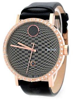 женские часы Romanson SL9205QMR(BK). Коллекция Leather