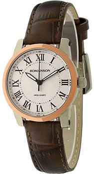 женские часы Romanson TL0334LJ(WH). Коллекция Leather