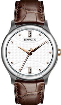 женские часы Romanson TL1213SLJ(WH). Коллекци Leather