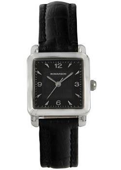 женские часы Romanson TL1579DLW(BK). Коллекция Adel