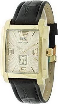 Купить Часы мужские Наручные  мужские часы Romanson TL5140SMG(GD). Коллекция Leather  Наручные  мужские часы Romanson TL5140SMG(GD). Коллекция Leather