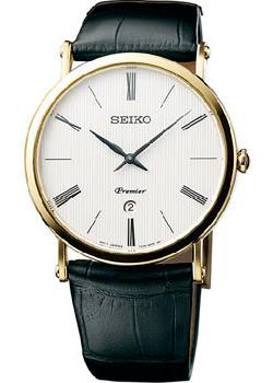 Японские наручные  мужские часы Seiko SKP396P1. Коллекция Premier.