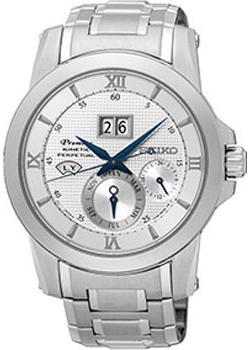 Японские наручные  мужские часы Seiko SNP133P1. Коллекци Premier