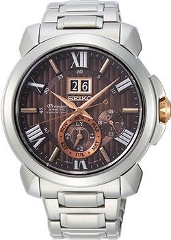 Японские наручные мужские часы Seiko SNP157P1. Коллекция Premier фото