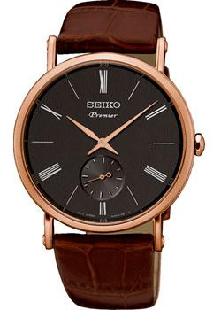 Японские наручные  мужские часы Seiko SRK040P1. Коллекция Premier.
