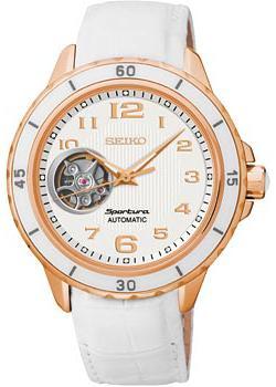 Японские наручные  женские часы Seiko SSA882J1. Коллекция Sportura