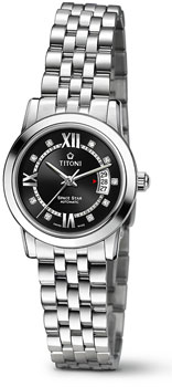 Швейцарские наручные  женские часы Titoni 23738-S-363. Коллекция Space Star от Bestwatch.ru