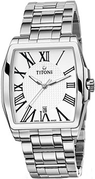 Швейцарские наручные мужские часы Titoni 83727-S-314. Коллекция WallStreet