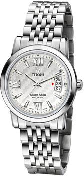 Швейцарские наручные мужские часы Titoni 83738-S-342. Коллекция Space Star