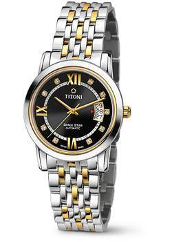 Швейцарские наручные  мужские часы Titoni 83738-SY-363. Коллекци Space Star