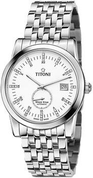 Швейцарские наручные  мужские часы Titoni 83838-S-535. Коллекция Space Star