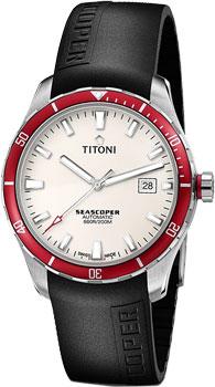 Швейцарские наручные  мужские часы Titoni 83985-SRB-RB-516. Коллекция Seascoper