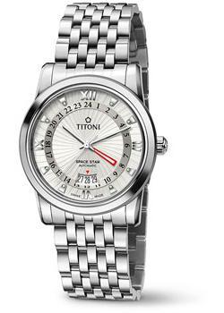 Швейцарские наручные  мужские часы Titoni 94738-S-377. Коллекци Space Star