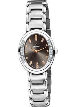 Швейцарские наручные женские часы Titoni TQ-42921-S-DB-532R. Коллекция Mademoiselle by Titoni