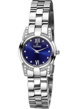 Швейцарские наручные  женские часы Titoni TQ-42922-S-DH-403. Коллекция Mademoiselle by Titoni