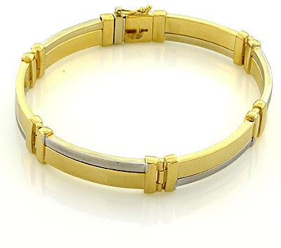 Мужской браслет. Выполнен из золота 585 пробы. Примерный вес изделия - 24,21 гр
